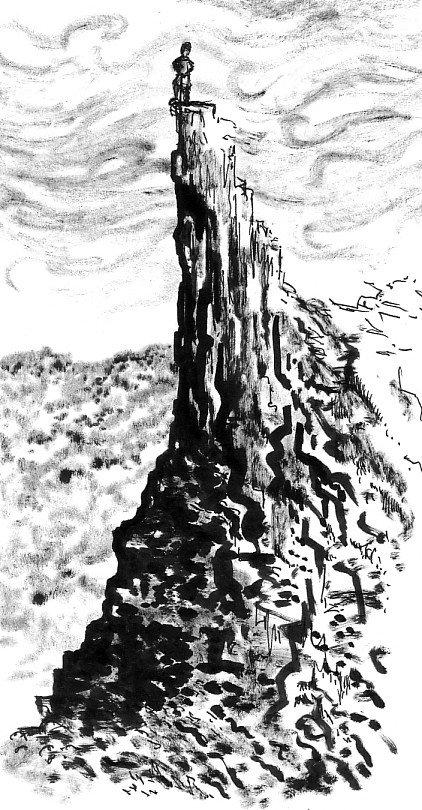 montagne dans journal