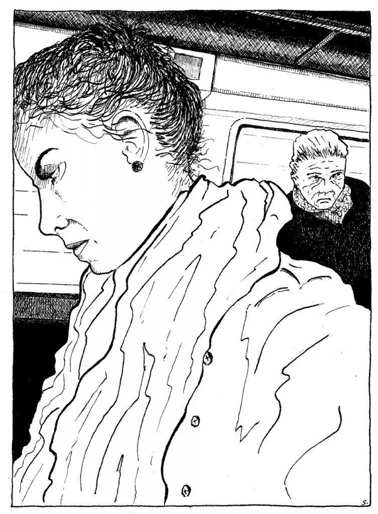 la jeune fille et la vieillarde le tramway