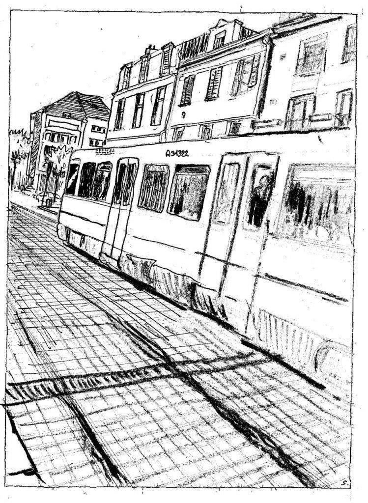 arrivée tramway ou départ