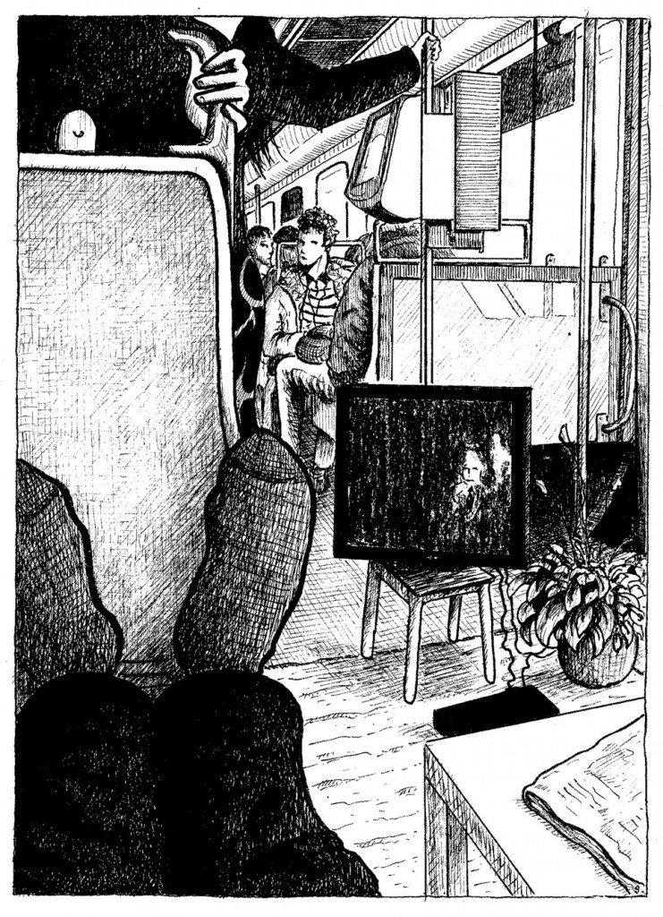 télé dans le tramway