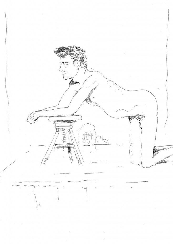 garçon à la chaise