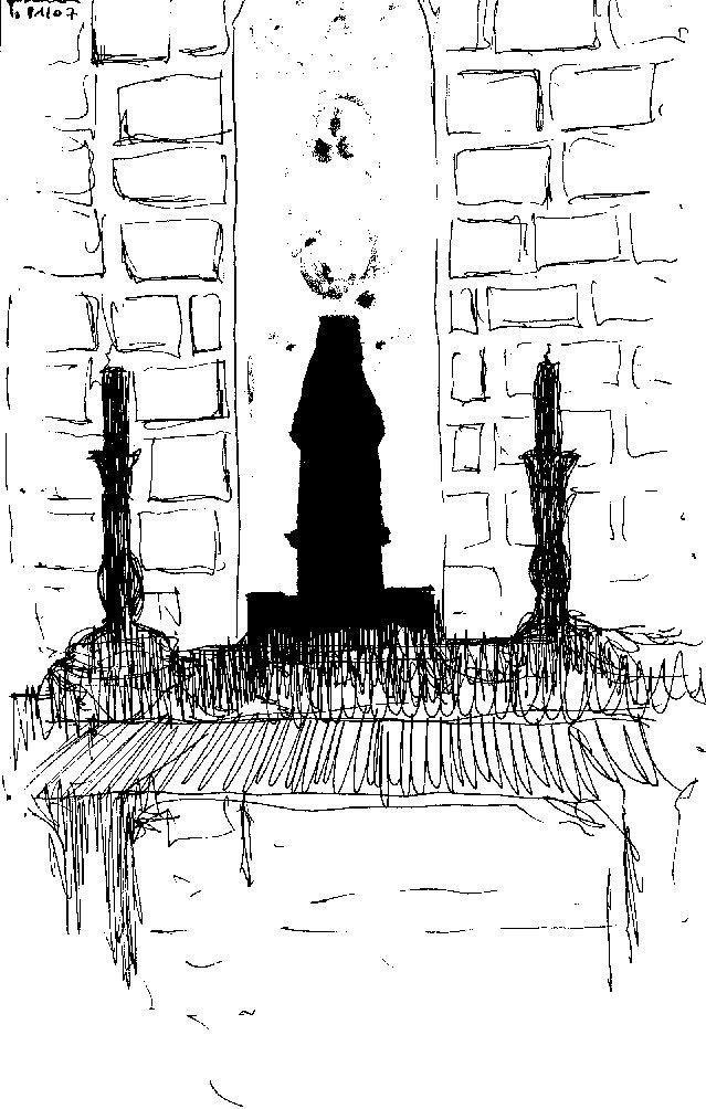 statue dans l'autel
