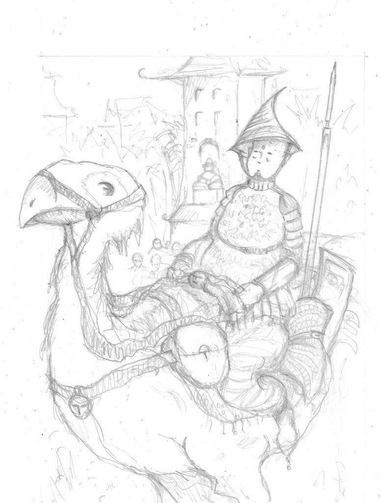 gardien crayonné