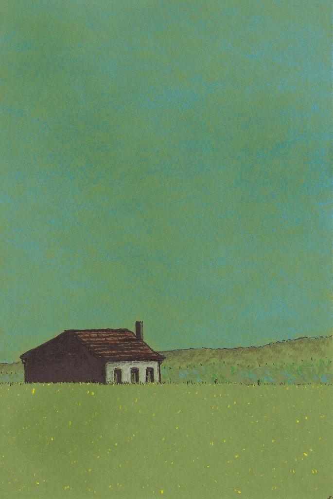 maison dans une prairie