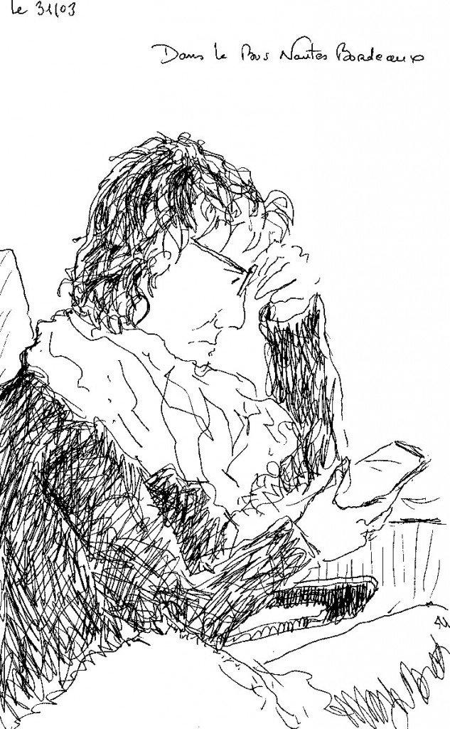 femme à l'i-phone