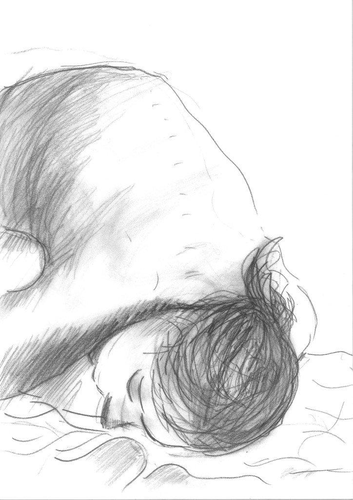 nue fusain