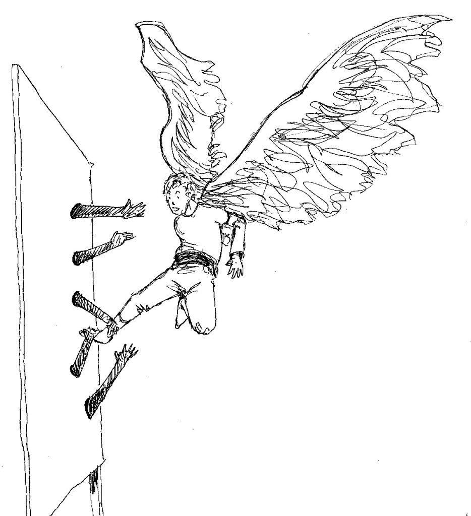 ange tenu par le pieds