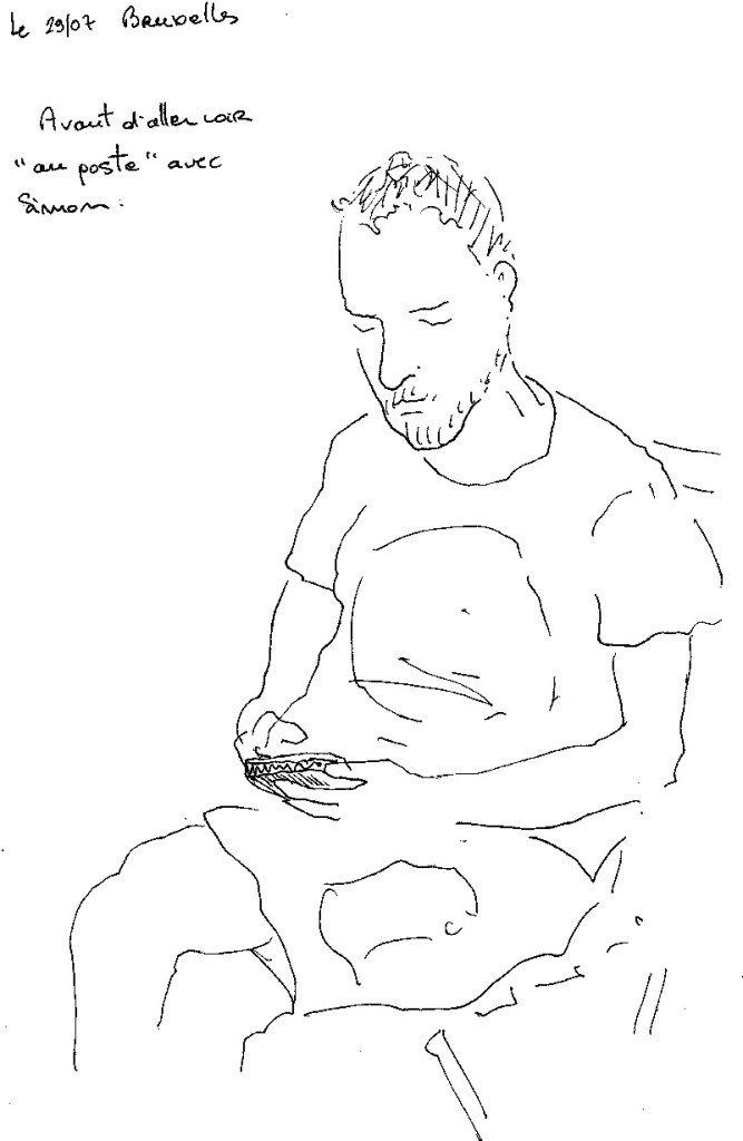 homme au portable