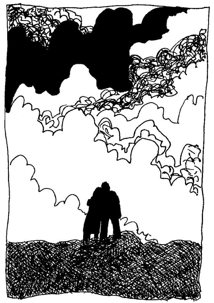 couple devant nuage