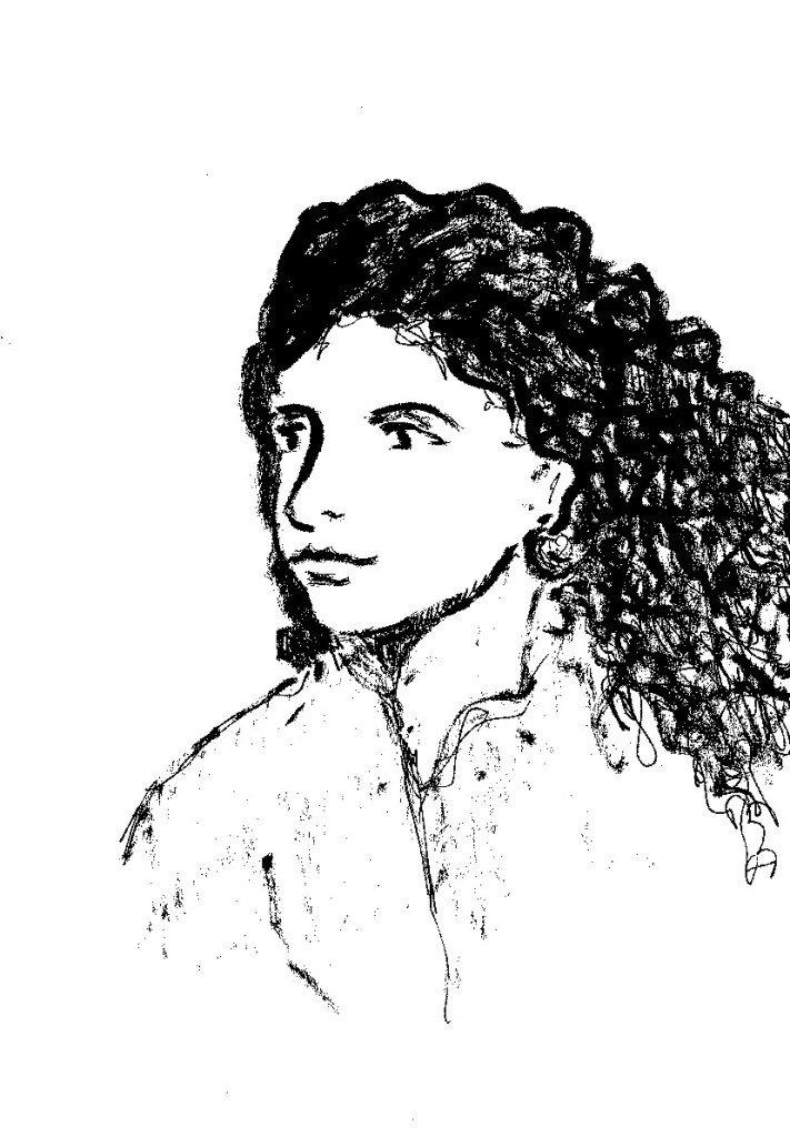 femmes aux cheveux longs