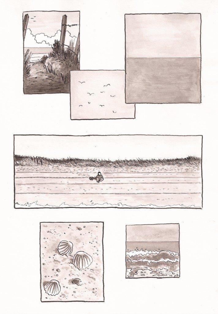 des cases sur la plage