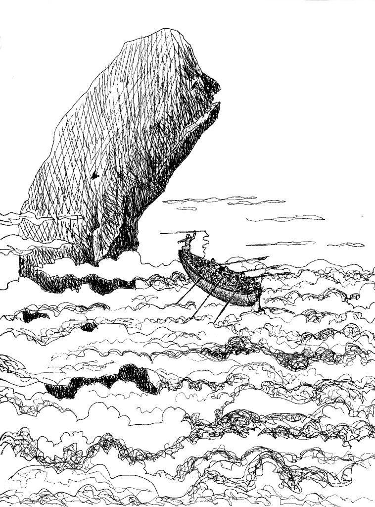 chasse au cachalot dans les nuages