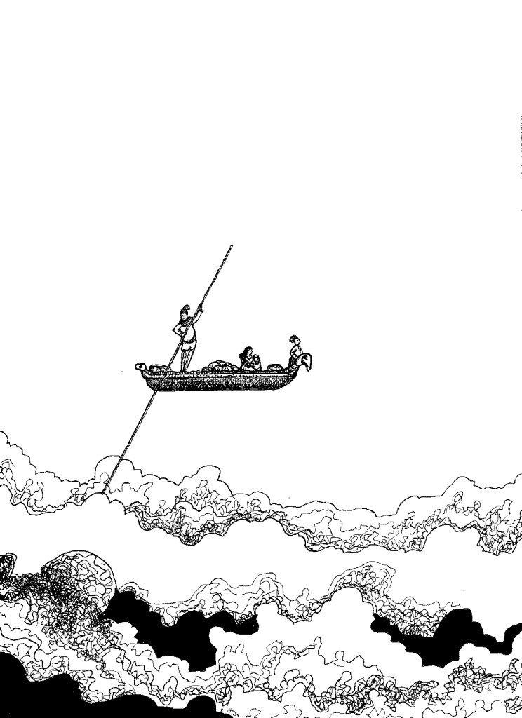 gondole au dessus des nuages