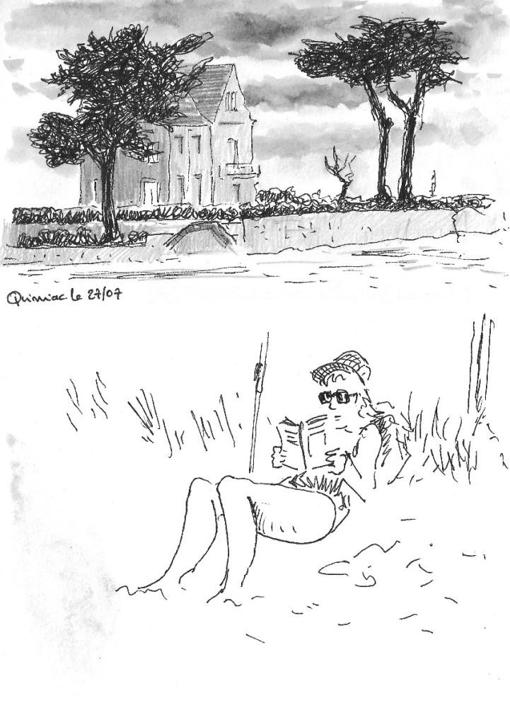 fille lisant a quimiac