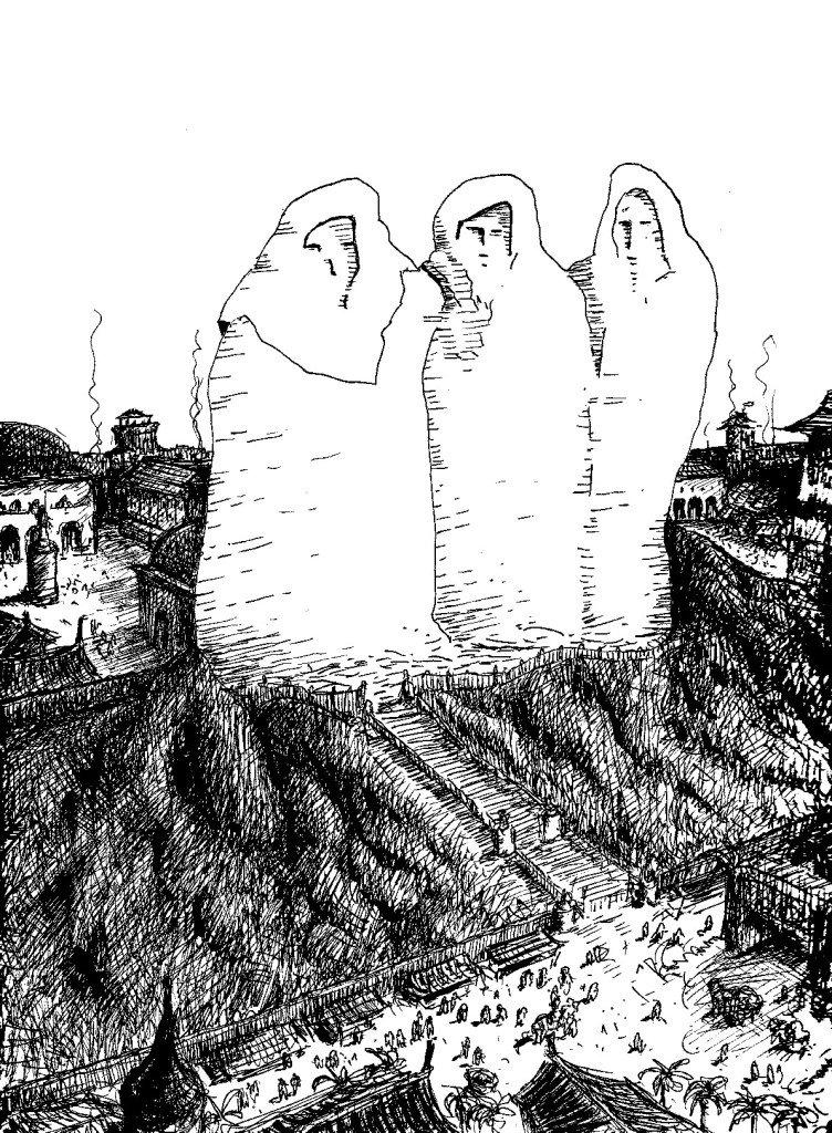 les trois géants de Kröm