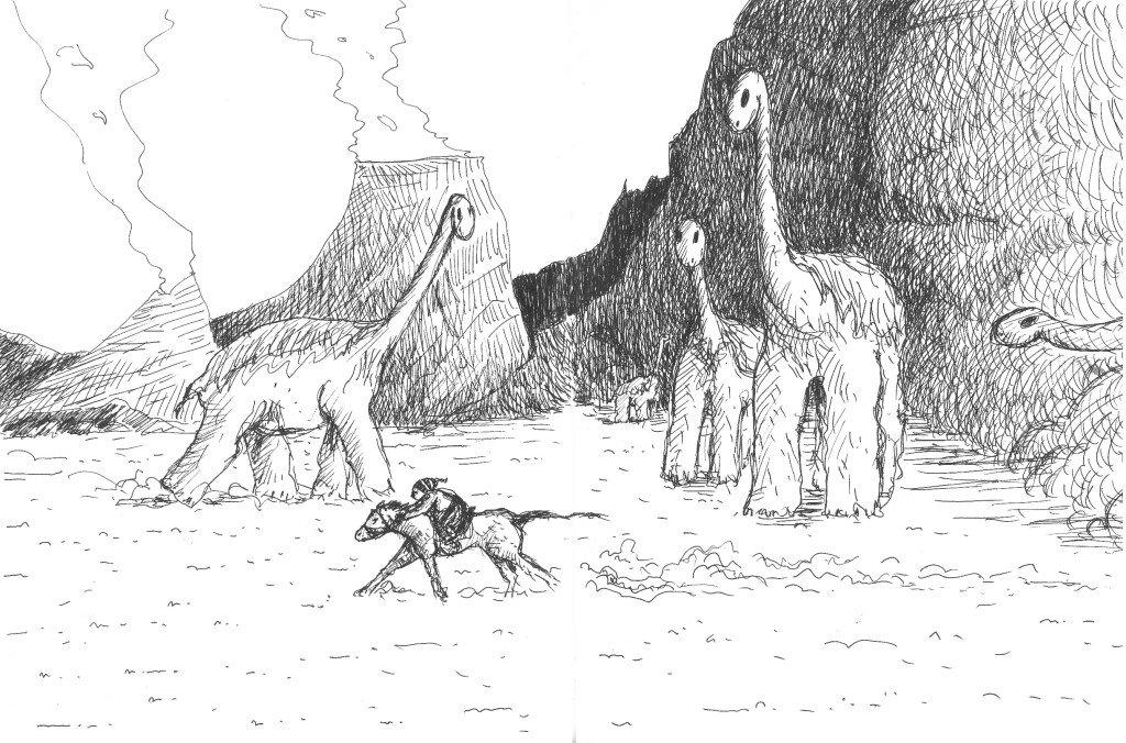 ledinosaure et le cavalier