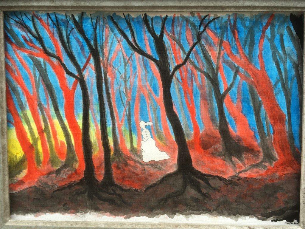 fille dans la forêt
