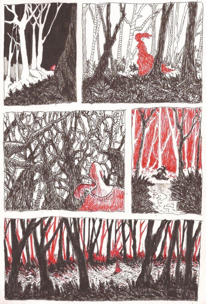 planche 1 la fille en rouge