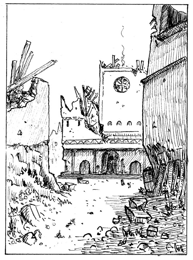 temple en ruine