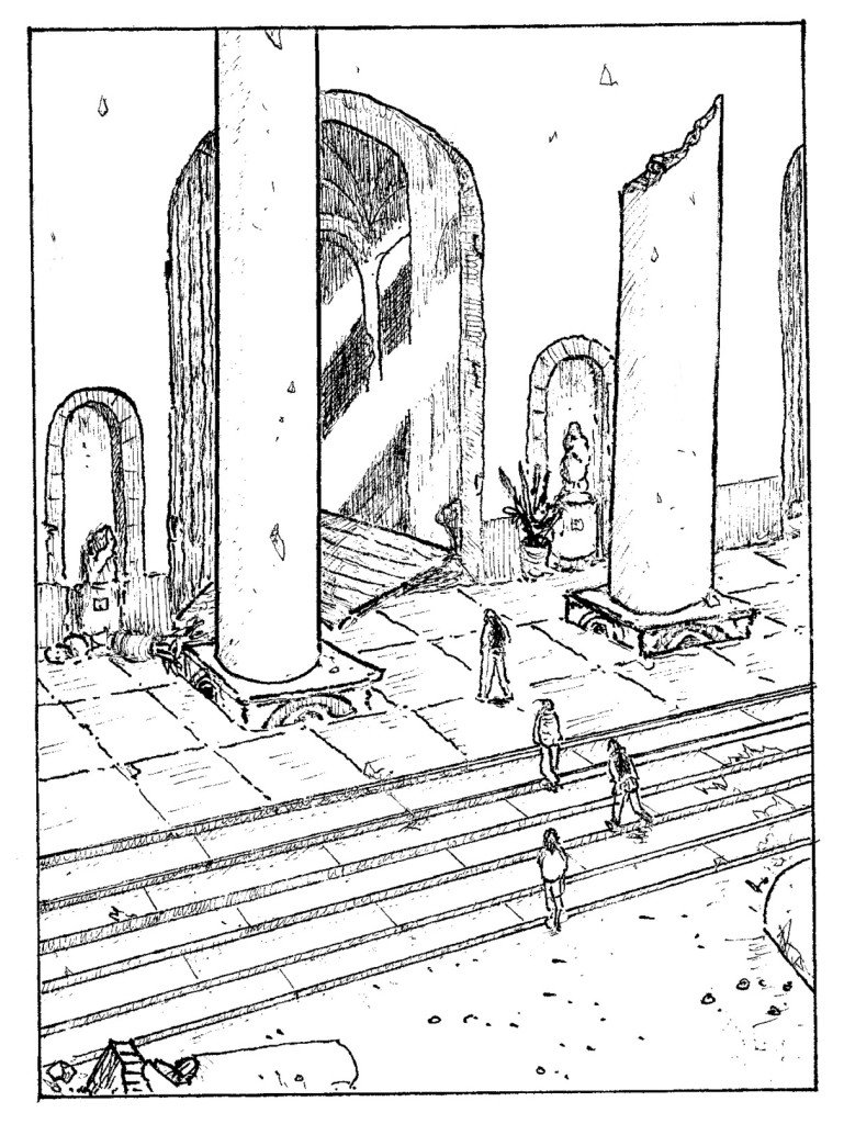 escalier du temple