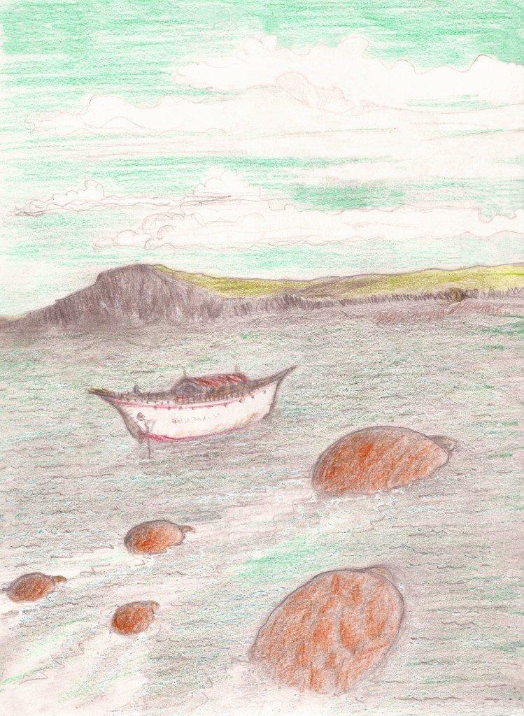 bateau  et  tortues
