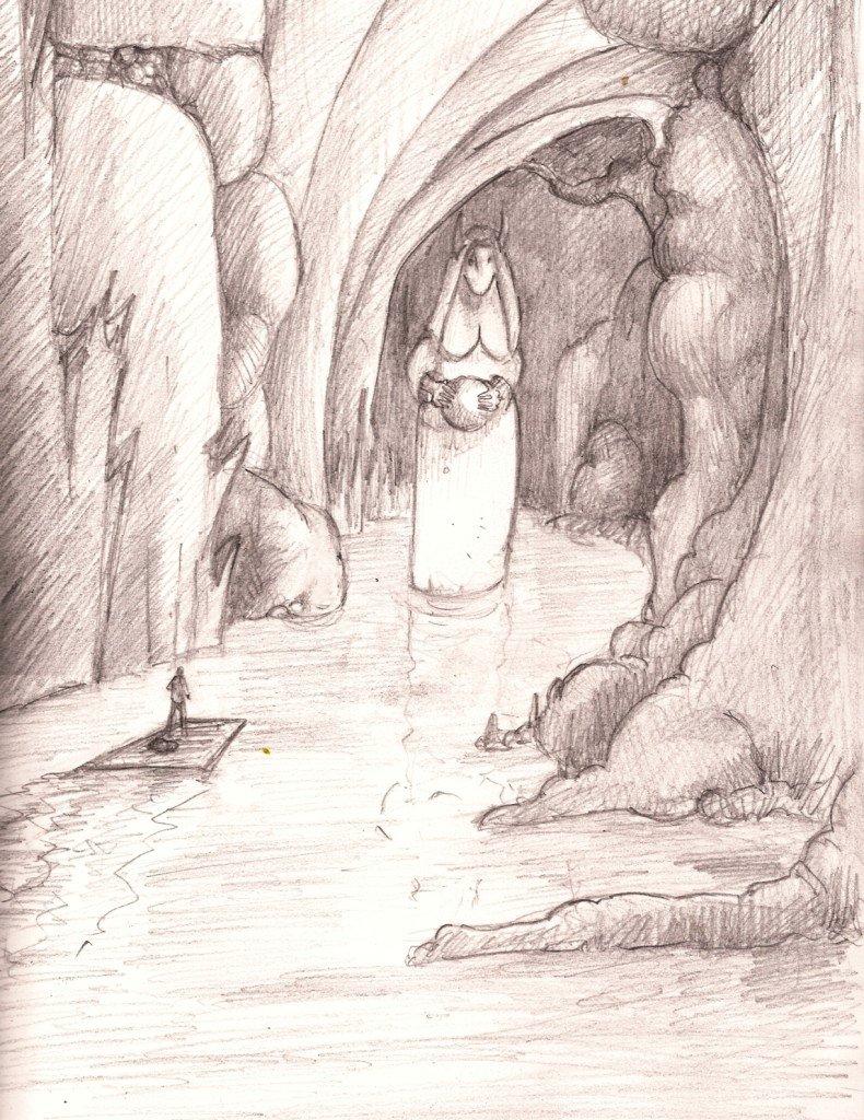statue dans le tunnel