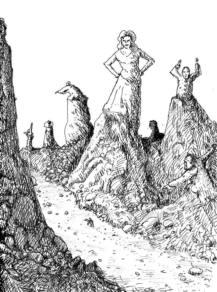 vallée de statues