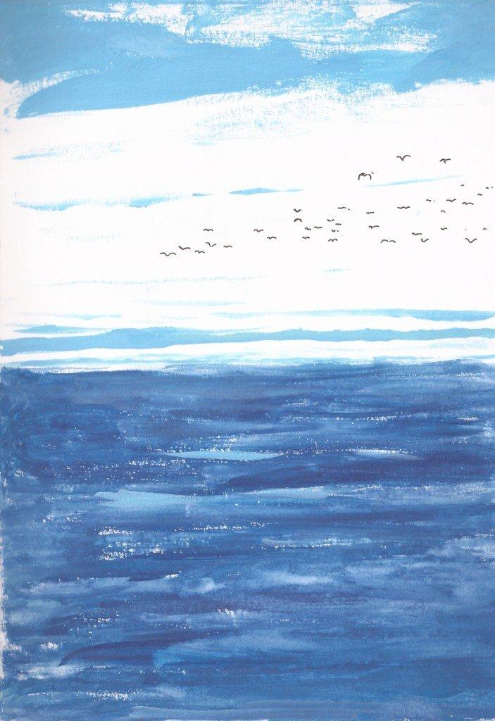 ciel bleu mer bleue