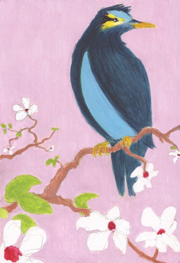 oiseau a la manière chinoise
