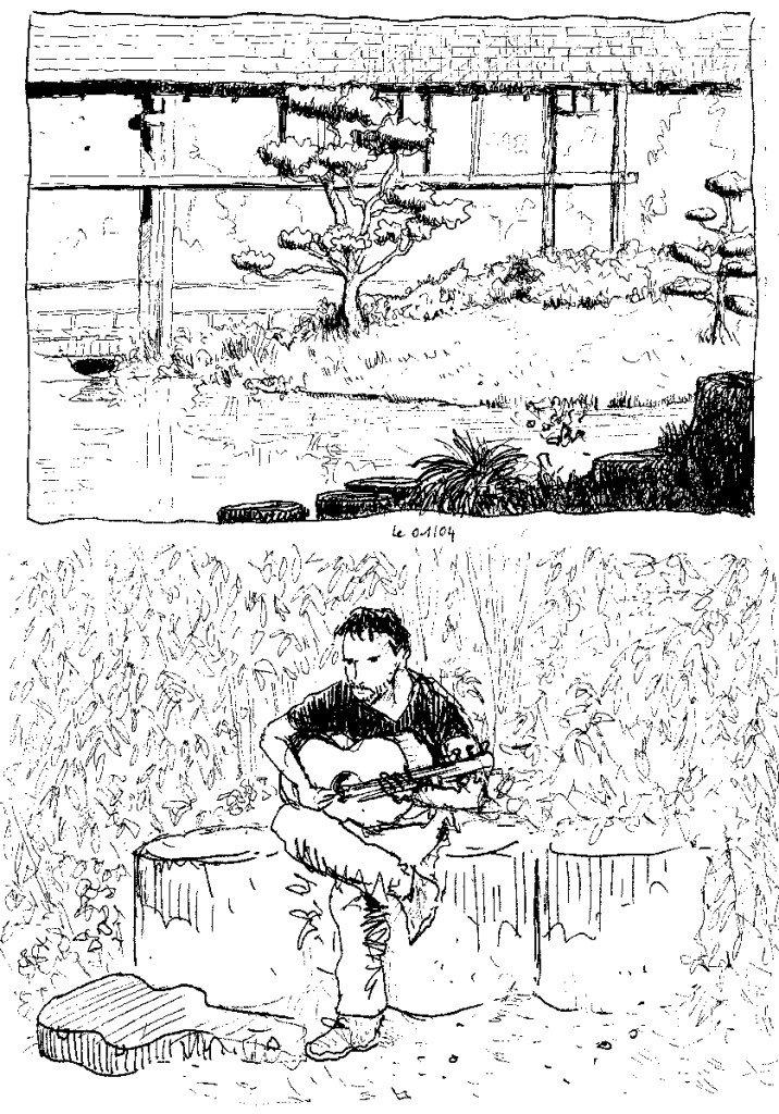 guitariste sur l'ile de versailles
