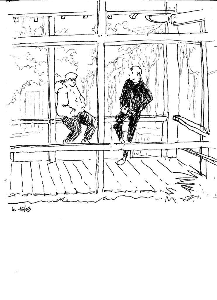 un couple au jardin japonais