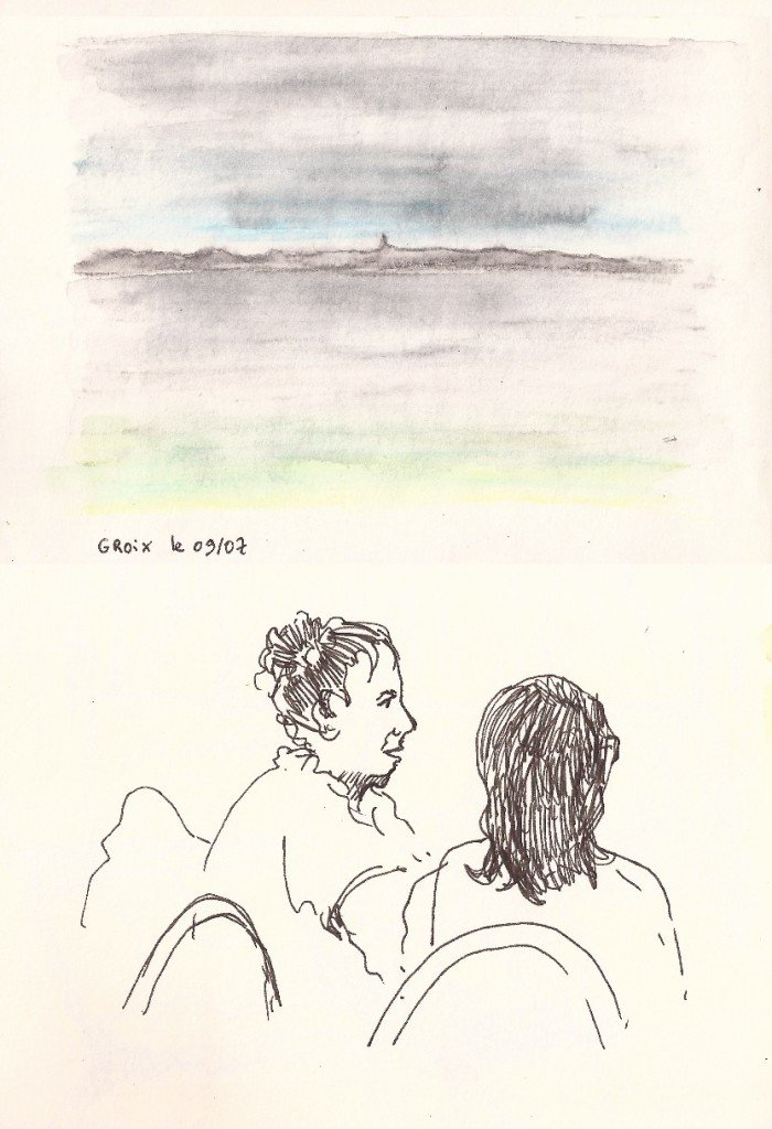 lorient vu de l'île de groix