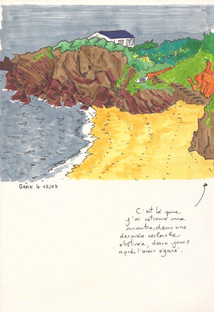 paysage couleur sur l'île de Groix