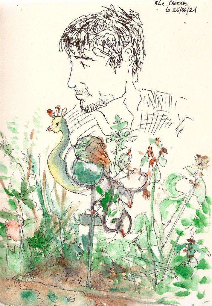 joel en son jardin