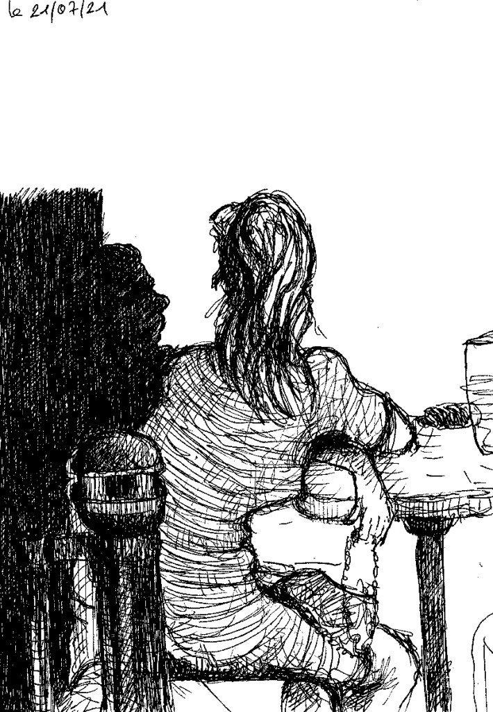 ombre au café