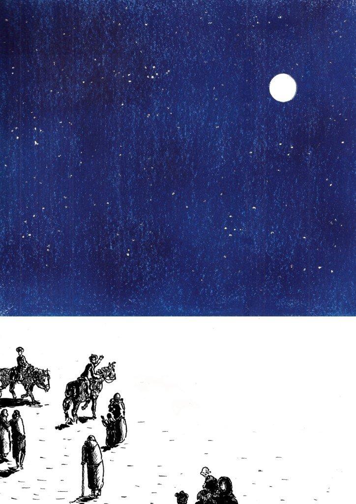 départ sous les étoiles